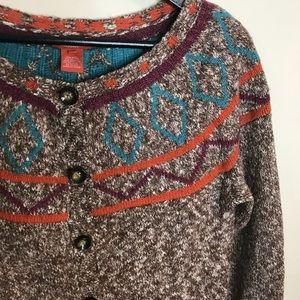 Sundance Sz M Wool blend button front cardigan